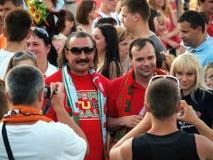 Fotoset двенадцатого игрока национальной команды Португалии Стоковые Фото