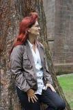 Fotoskytte i parken Fotografering för Bildbyråer