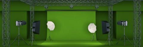 Fotostudio het 3d teruggeven vector illustratie