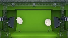 Fotostudio het 3d teruggeven stock illustratie