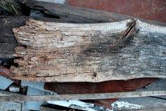 Fototextur av den gamla åldriga träplankan royaltyfri bild