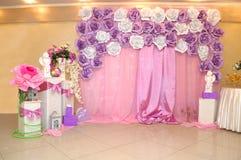 Fotovägg för födelsedag för barn` s Fotovägg för flickor Royaltyfri Fotografi