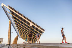 Fotovoltaic buiding -the biggest in Spain- in the zone of the Fo Stock Images