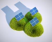 Fotovoltaico stilizzato Fotografie Stock