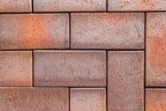 Fotpath för tegelsten för kvarter för sten för förberedande sten för trottoartextur Royaltyfri Foto