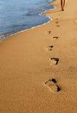 fotspår Arkivfoto
