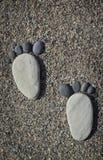 Fotspår av stenar Royaltyfri Fotografi