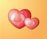 Fotspår i hjärtan Royaltyfria Bilder
