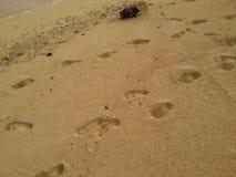 Fotspår i San Blas Panama Royaltyfri Fotografi