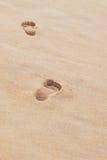 fotspår låter vara ingenting Royaltyfria Foton