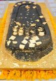 Fotspåret av Buddha är en avtryck av Gautama Buddha ` s Arkivbilder