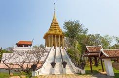 Fotspåret av Lord Buddha, Saraburi, forntida stad, Samut Prakan, Thailand Royaltyfri Bild
