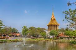 Fotspåret av Lord Buddha, Saraburi, forntida stad, Thailand Arkivfoton