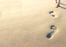 fotspårsand Arkivfoto