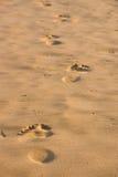 fotspårsand arkivbild