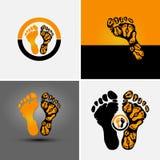 fotspårsymbol Fotografering för Bildbyråer
