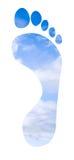 fotspårsky Arkivfoto