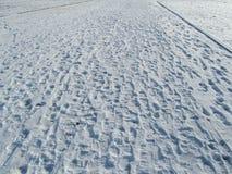 Fotsteg på snow arkivbilder