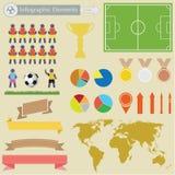 Fottball infographics Royaltyfria Foton