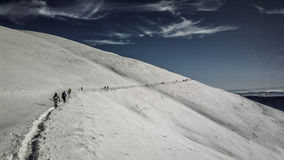 Fotvandra Balkan berg Arkivfoton