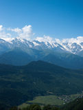 fotvandra berg Arkivfoto