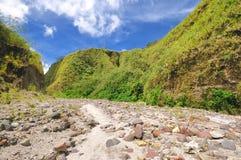fotvandra berg philippines Arkivfoto