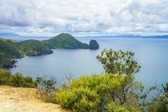 Fotvandra Coromandel den kust- gångbanan, Nya Zeeland 14 Arkivfoto