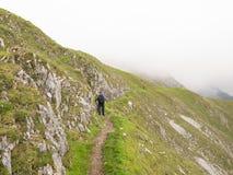 fotvandra för alpsösterrikare Arkivbilder