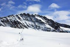 fotvandra för alps Arkivfoto