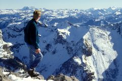 fotvandra för alps Arkivfoton