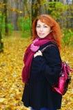 fotvandra för flicka Royaltyfria Bilder