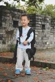 Fotvandra för pojke Arkivfoton