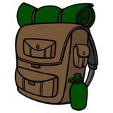 fotvandra för ryggsäck stock illustrationer