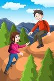 Fotvandra för ungar stock illustrationer