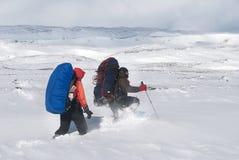 Fotvandra för vinter Arkivfoton
