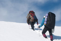 Fotvandra för vinter Fotografering för Bildbyråer