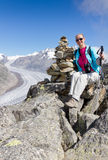 fotvandra gå för klättringbegrepp Arkivbild