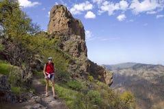 Fotvandra Gran Canaria Arkivbild
