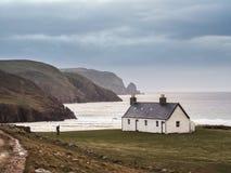 Fotvandra i norden av Skottland Arkivbild