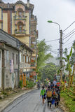 Fotvandra i Sa-PA, Vietnam Arkivbilder