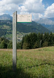 Fotvandra i Savoie Arkivbilder