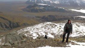 fotvandra iceland arkivfilmer