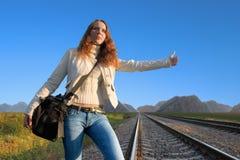 fotvandra järnväg för hake 3 arkivbilder