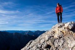 fotvandra komovimontenegro berg Fotografering för Bildbyråer