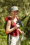 fotvandra kvinna royaltyfri fotografi
