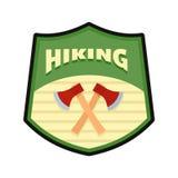 Fotvandra logo, lägenhetstil royaltyfri illustrationer