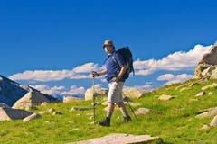 fotvandra nationalparkpirin Arkivfoto