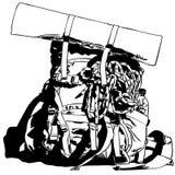 Fotvandra och campa stock illustrationer