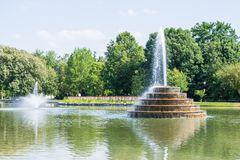 Fotvandra område i bagaren Park i Frederick, Maryland Royaltyfri Fotografi