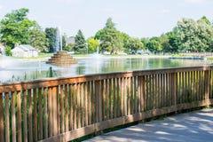 Fotvandra område i bagaren Park i Frederick, Maryland Royaltyfri Bild